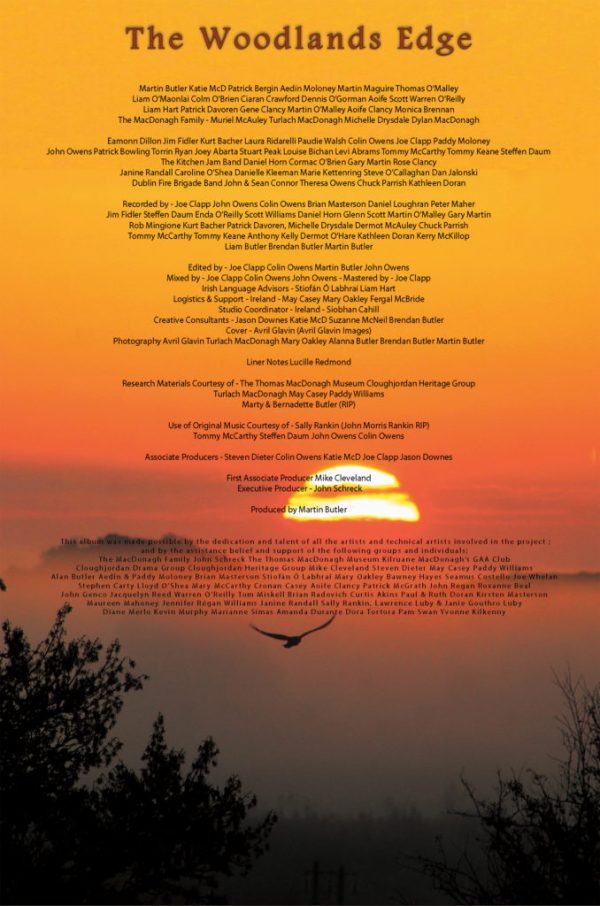 Promotional Poster For the Woodlands Edge CD